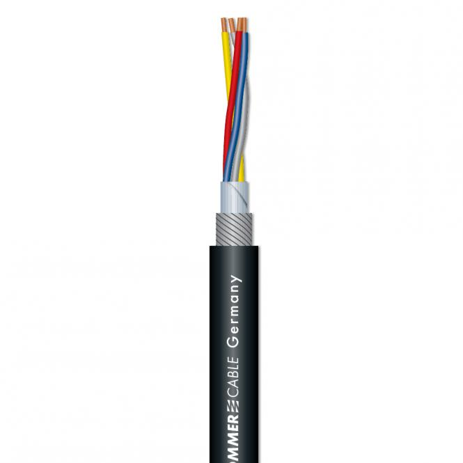 SC-SQUARE 4-CORE Mikrofonkabel, svart